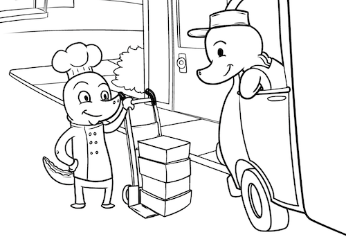 The Special Delivery coloring pages